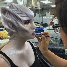 Finals Week at MUD! make up school special make up effects. Mud Makeup, Movie Makeup, Crazy Makeup, Makeup Art, Hair Makeup, Dark Costumes, Monster Makeup, Prosthetic Makeup, Body Painting