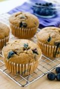 Low Fat Blueberry Muffins Recipe : Everyone loves blueberry muffins. These have half the fat and calories of store-bought reduced fat muffins and are an easy breakfast recipe that's good for your family.
