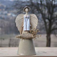 anioł len  Dekoracja Wnętrz Ceramika JOANNA PIOTROWSKA: