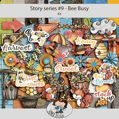 Oscraps.com :: Shop by Category :: All New :: SoMa Design: Bee Busy - Kit - Story Series #9