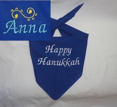 Hanukkah Dog Bandana https://www.etsy.com/listing/210419224/happy-hanukkah-dog-bandana-with