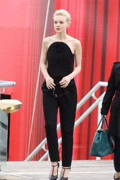 Carey Mulligan in Balenciaga jumpsuit