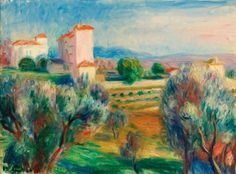 WILLIAM JAMES GLACKENS | Landscape with Olive Trees