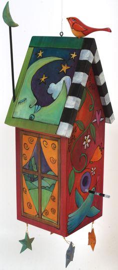 Sticks Bird House                                                                                                                                                                                 More #birdhouses