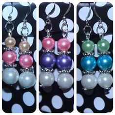 Pearl inspired drop earrings #fashion #jewellery #earrings #accessories