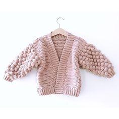 Ravelry: Mini Poet Cardigan pattern by Little Golden Nook Jumper Patterns, Crochet Cardigan Pattern, Knit Crochet, Crochet Patterns, Crochet Baby Sweaters, Crochet Baby Clothes, Crochet Capas, Christmas Knitting Patterns, Dress Gloves