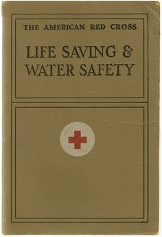 9147ac4d054 Life Saving And Water Safety - American Red Cross Handbook Vintage  Instruction Book -  14.00 American