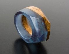 Resin Wood RingWood Resin Jewelry Epoxy Resin Wood от Magicatree
