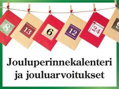Jouluperinnekalenteri ja jouluarvoitukset -sivulta voi tulostaa 2 erilaista joulukalenteria. Jouluarvoituksia voi käyttää myös juhlissa ja ryhmissä. White Christmas, Crafts For Kids, Christmas Decorations, School, Wood Frame House, Crafts For Children, Kids Arts And Crafts, Kid Crafts, Christmas Decor