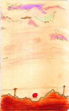 sunset sketch- matthew gray gubler