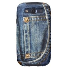Trendy, elegant and pretty Samsung Galaxy S3 case. Beautiful close up blue denim jeans pocket with red copper studs. Funny vintage retro design for the hip fashionista, cowboy or cowgirl, the up to date trendsetter or fashion designer. Cute and fun gift for mom's or dad's birthday, Mother's or Father's day or Christmas. Classy, chic and cool phone cover the girly girl or western style loving man or woman. Also for Galaxy S2 S4, iPhone 3 4 5, Motorola Droid Razr, Ipod Touch 4G 5G, iPad etc.