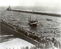 Leif Erikson's ship arriving in Duluth Minnesota June 24,1927 (Seriously?   I need to go over my Duluth history.)  s.h.