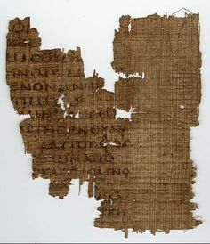 Papyrus manuscript fragment of the Second Epistle to the Corinthians from an early copy of a New Testament in Greek. To the present day survived only pieces from one leaf. The surviving verses are 2 Corinthians 11:1-4; 6-9, Found in Egypt, dates from around 550 AD and is located in the Sackler Library in the University of Oxford England.