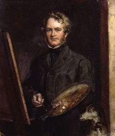 Autorretrato de Sir Edwin Henry Landseer (1802-1873) Pintor británico de la época victoriana, especialista en pinturas de animales.