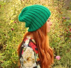 FREE knitting pattern for this women's Slouch Beanie.