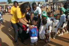 Chika Ike feasts with kids to celebrate children's day (PHOTOS)