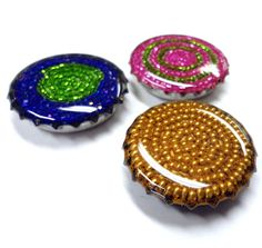 Resin clay, beads and a layer of resin.  Resin Crafts
