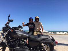 Bastard's tour. Rent a Harley Davidson from 50€. www.bastards-shop.com #bastards #bastardsbcn #barcelona #sitges #harleydavidson #tours #rental #hire #sportster #blackflat #goodtimes #goodfriends #squadgoals #squadgoalz #summer #enjoy #beach #bobber #chopper
