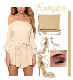 """Romper"" by bitty-junkkitty ❤ liked on Polyvore featuring Miss Selfridge, T-shirt & Jeans and Charlotte Tilbury"