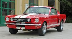 1965 MUSTANG GT350 TRIBUTE - FOR SALE  Shelby GT350 tribute car in Red with white Le Mans Stripes. In stock for immediate delivery.