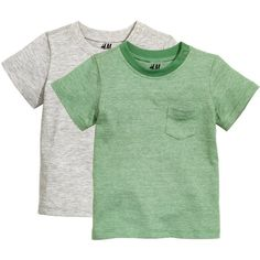2-pack T-shirts $12.99 ($13) ❤ liked on Polyvore featuring tops, t-shirts, one shoulder tops, short sleeve tee, stripe t shirt, green striped t shirt and striped t shirt