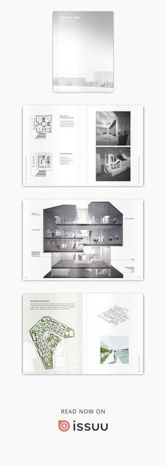 Architectural portfolio my student`s works and other Portfolio Booklet, Portfolio Covers, Interior Design Software, Office Interior Design, Website Design Layout, Layout Design, Design Ideas, Portfolio Design, Architecture Portfolio Examples
