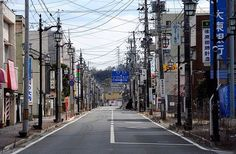 A deserted street is pictured in the town of Namie, inside the Fukushima nuclear disaster exclusion zone. Description from telegraph.co.uk. I searched for this on bing.com/images