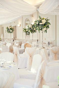 White Classic Hollywood Glamour Wedding http://www.kerryannduffy.com/
