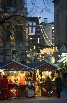 St.Thomas Christmas market is the biggest Chiristmas markets in Finland getting together more than 250 stands selling from Christmas onament to presents. It's opened around 10 of December to Chritmas Eve. WOULD LOVE TO GO!
