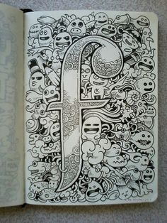 Letter 'f' doodle By kerby rosanes