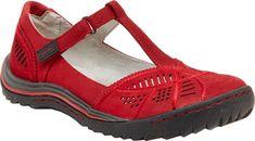 f8bf9a92c276 Women s Jambu Bridget T-Strap Shoe - Red Nubuck with FREE Shipping  amp   Exchanges