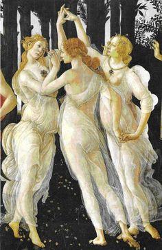 las tres gracias en la Primavera de Botticelli
