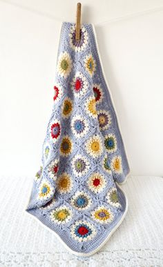 Sunshine Granny Square Baby Blanket Crochet Pattern PDF Instant Download Cot…