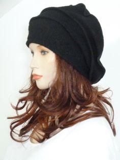 Effortlessly chic lagenlook black boiled wool by whitebagheera