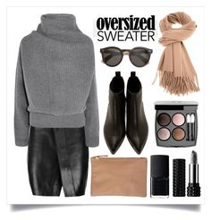 """""""60-Second Style: Oversized Sweater"""" by alaria ❤ liked on Polyvore featuring Acne Studios, Clare V., J.Crew, NARS Cosmetics, Chanel, Kat Von D, oversizedsweater and sixtysecondstyle"""