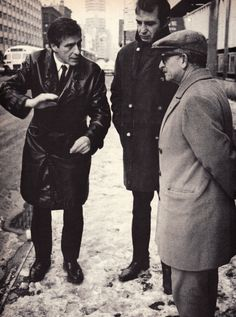 On the scene of one of the locations selected for Cassavetes' new film, Husbands, the actor/director discusses the action with co-star Ben Gazzara and cinemotographer Aldo Tonti. Photo taken by the film's producer Sam Shaw. Evergreen Review, March, 1969. Source: babylonfalling  Repost from the ...