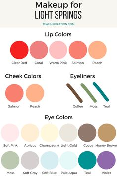 Light Spring Makeup Colors