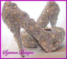 She will fall for these <3 Custom Handmade Swarovski Wedding Stilettos Gorgeous