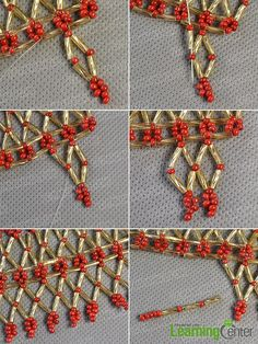 Step 6: Continue to make the second beading square strand