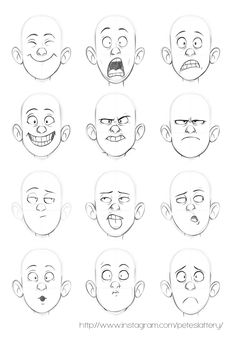 Expresiones manga chico/a emotion faces, drawing cartoon faces, cartoon characters sketch, Cartoon Characters Sketch, Drawing Cartoon Faces, Drawing People Faces, How To Draw Characters, Sketches Of Cartoons, Drawing Cartoons, Cartoon Kunst, Cartoon Art, Cartoon Design