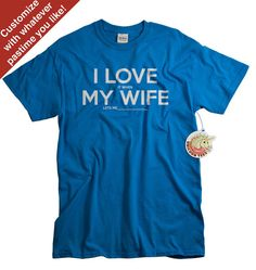 Fathers Day Gift from Wife Tshirt for Husband or by UnicornTees