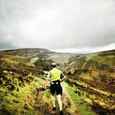 Arc'athlete Murray Strain kicking off the weekend with a Friday evening hill run