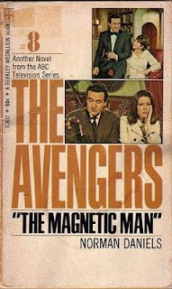 1960s, The Avengers - The Magnetic Man, front cover.