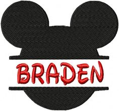 Machine Embroidery Design - Mickey Mouse Ears