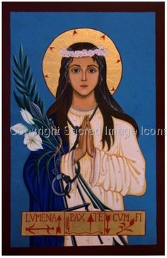 Original Icon of Saint Philomena. Patron Saint of Babies and Children and Autism, also know as the Wonderworker