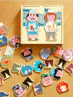 Wooden Puzzle, Make Your Own Figure, Ingela P Arrhenius, 2+