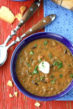 Hearty Lentil & Black Bean Soup with Smoked Paprika