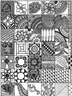 My new favorite art form~Zentangle Doodles! Doodles Zentangles, Tangle Doodle, Tangle Art, Zentangle Drawings, Zen Doodle, Doodle Drawings, Ornament Pattern, Arte Linear, Doodle Inspiration