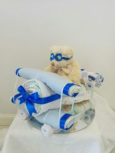 Plane Nappy Cake - Custom Made Nappy Cakes                                                                                                                                                      More