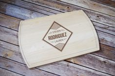 Personalized Cutting Board Engraved Letter by TimelessTreasuresUSA